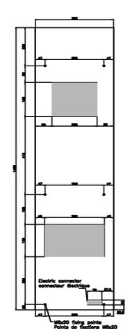 climatiseur d 39 armoire jet 0 4 4 kw. Black Bedroom Furniture Sets. Home Design Ideas